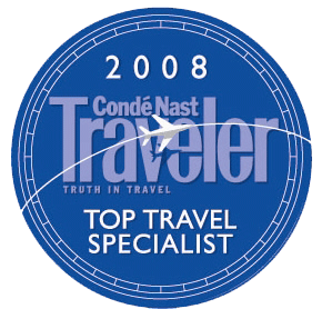 conde nast top travel Specialist 2008