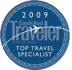 conde nast top travel Specialist 2009