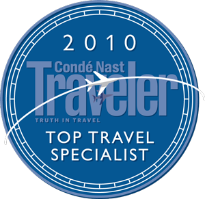 conde nast top travel Specialist 2010